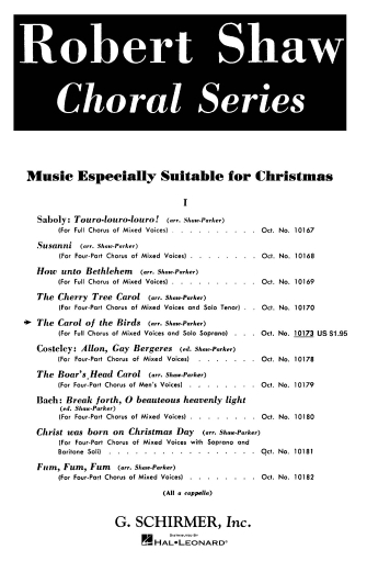 Product Cover for The Carol of the Birds