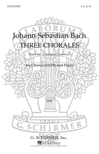 Product Cover for 3 Chorales From Christmas Oratorio
