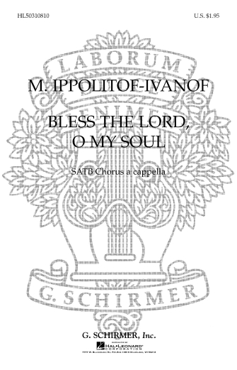 Product Cover for Bless the Lord, O My Soul