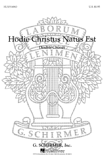 Product Cover for Hodie Christus Natus Est (Now Today Christ the Lord Is Born)