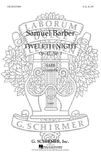 Product Cover for Twelfth Night – Op. 42, No. 1