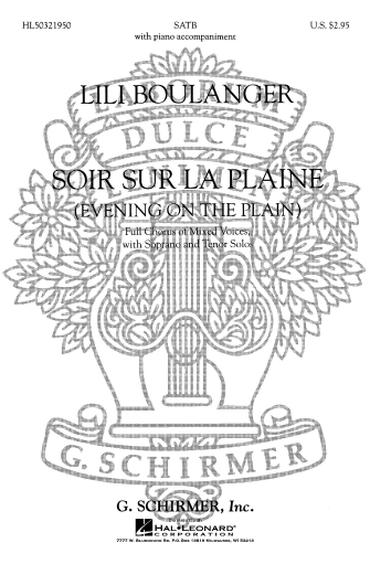 Product Cover for Soir Sur La Plaine (Evening on the Plain) with Soprano and Tenor Solos