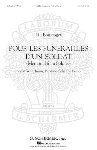 Product Cover for Pour Les Funerailles D'Un Soldat (Memorial for a Soldier – SATB with Baritone Solo, Piano)