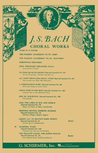 Product Cover for Cantata No. 140: Wachet auf