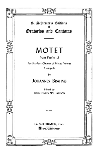 Product Cover for Motet, Op. 29, No. 2 (from Psalm 51)