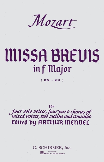 Product Cover for Missa Brevis in F, K.192