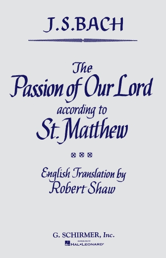 Product Cover for St. Matthew Passion