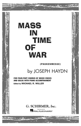 Product Cover for Mass in Time of War (Paukenmesse)