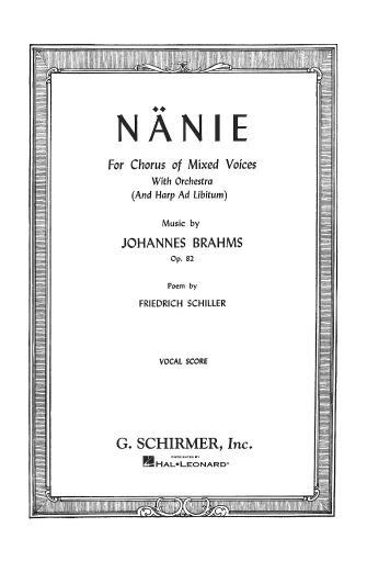 Product Cover for Nänie, Op. 82