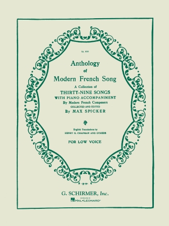 Product Cover for Anthology of Modern French Song (39 Songs)