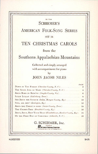 Product Cover for 10 Christmas Carols from the Southern Appalachian Mountains