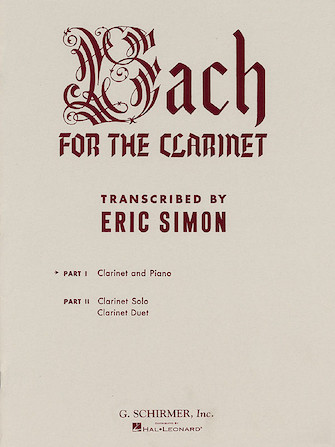 Product Cover for Bach for the Clarinet – Part 1