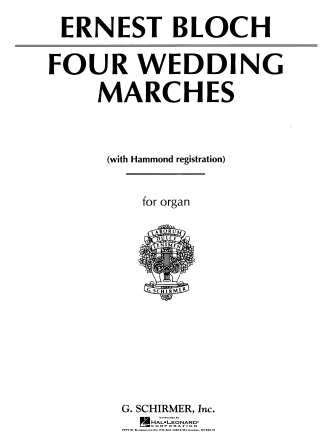 Product Cover for 4 Wedding Marches
