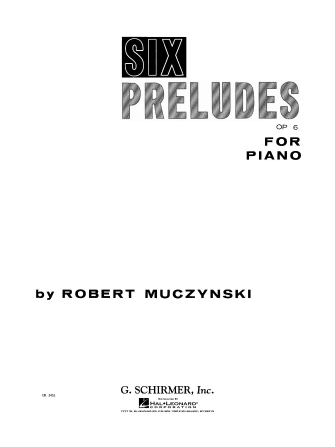 Product Cover for Six Preludes, Op. 6