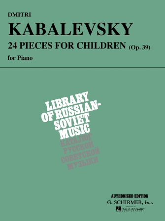 Product Cover for Dmitri Kabalevsky – 24 Pieces for Children, Op. 39