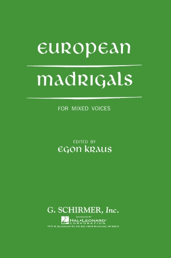 Product Cover for European Madrigals For Mixed Voices