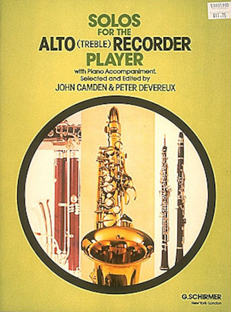 Product Cover for Solos for the Alto Recorder Player