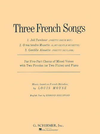 Product Cover for 3 French Songs