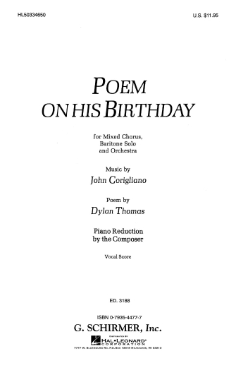 Product Cover for Poem on His Birthday