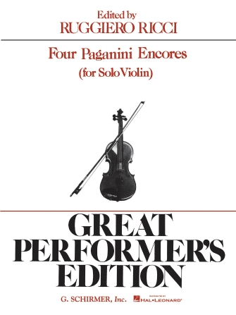 Product Cover for 4 Paganini Encores