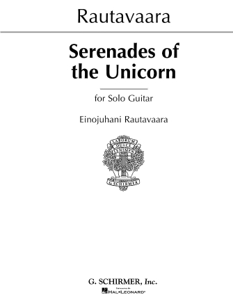 Product Cover for Serenades of Unicorns