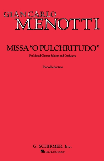 Product Cover for Missa O Pulchritudo