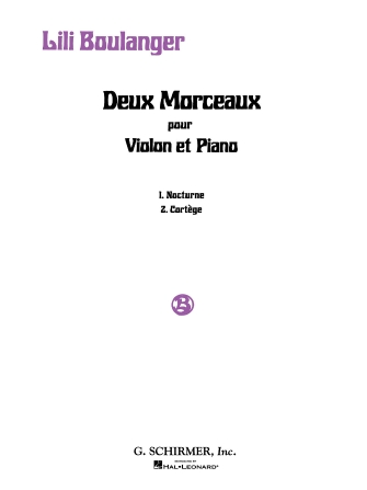 Product Cover for 2 Morceaux: Nocturne and Cortège