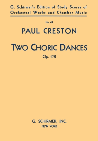 Product Cover for 2 Choric Dances, Op. 17b