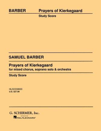 Product Cover for Prayers of Kierkegaard, Op. 30