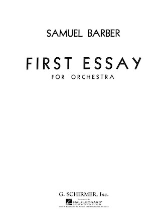 Product Cover for First Essay for Orchestra