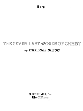 Product Cover for Seven Last Words of Christ