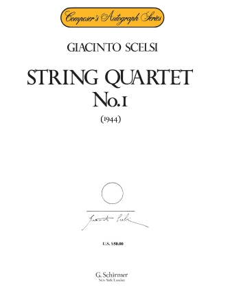 Product Cover for String Quartet No. 1 (1944)