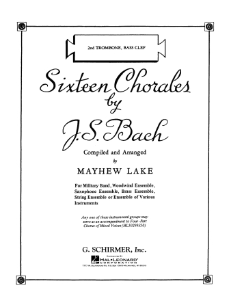 Product Cover for Sixteen Chorales
