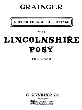 Product Cover for Lincolnshire Posy Score