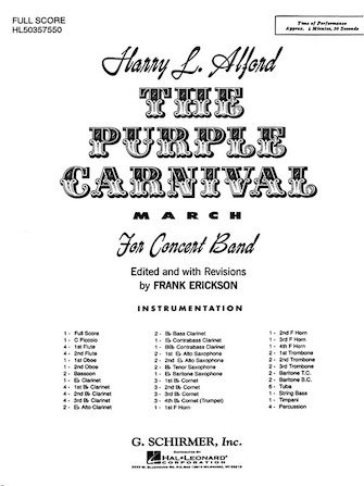 Product Cover for The Purple Carnival March
