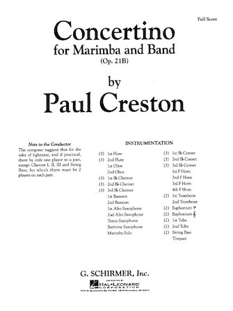 Product Cover for Concertino Marimba Op21b Score
