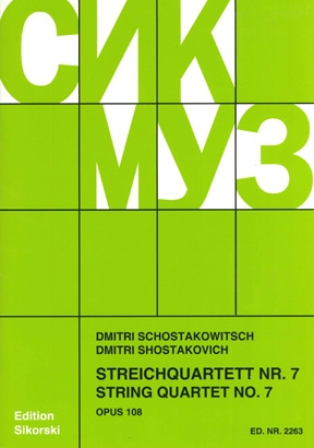 Product Cover for String Quartet No. 7, Op. 108