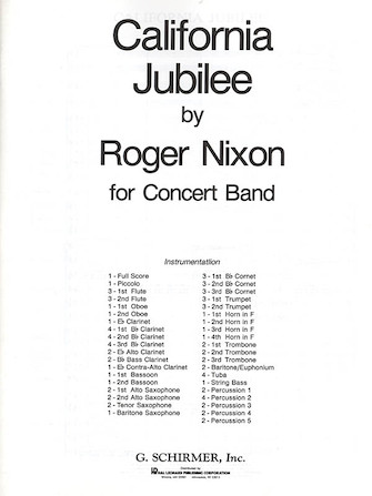 Product Cover for California Jubilee Band Score
