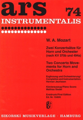 Product Cover for Two Concerto Movements for Horn and Orchestra