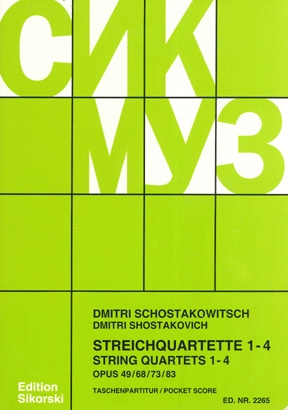 Product Cover for String Quartets, Nos. 1–4 (Op. 49, 68, 76, 83)