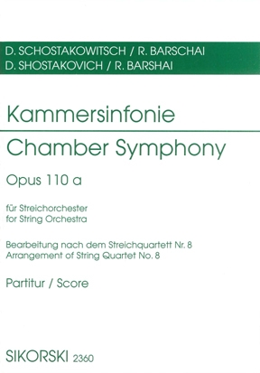Product Cover for Chamber Symphony (Kammersinfonie), Op. 110a