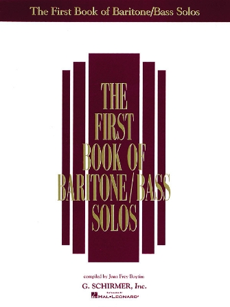 Product Cover for The First Book of Baritone/Bass Solos