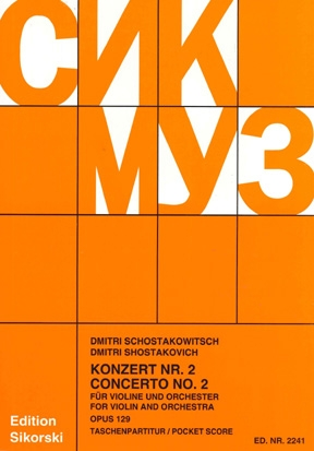 Product Cover for Concerto No. 2 for Violin and Orchestra, Op. 129