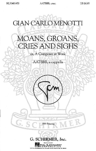 Product Cover for Moans, Groans, Cries, and Sighs