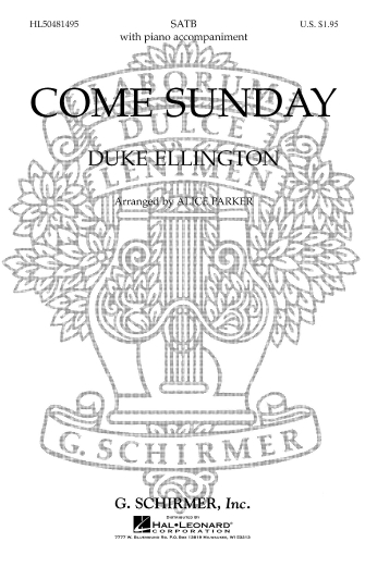 Product Cover for Come Sunday (from Black, Brown and Beige)