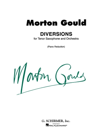 Product Cover for Diversions for Tenor Saxophone and Piano