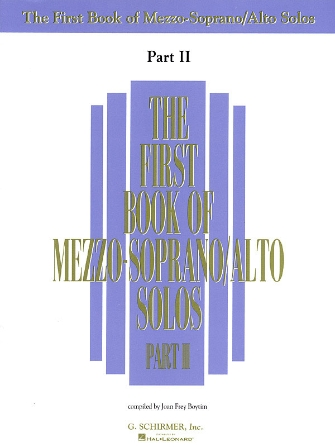Product Cover for The First Book of Mezzo-Soprano/Alto Solos – Part II