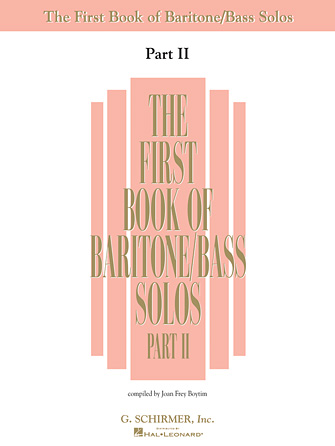 Product Cover for The First Book of Baritone/Bass Solos – Part II