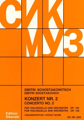 Product Cover for Concerto No. 2 for Cello and Orchestra, Op. 126