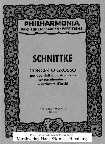 Product Cover for Alfred Schnittke – Concerto Grosso
